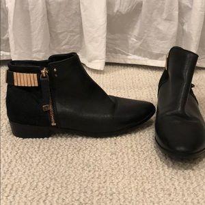 Yosi Samra leather boots w/gold embellishments